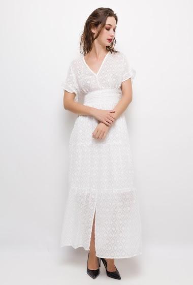 JUBYLEE vestido longo texturizado CIFA FASHION