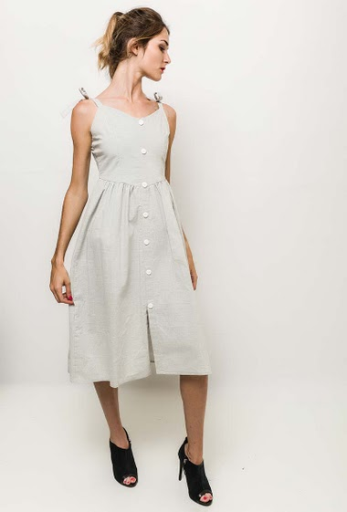 The model measures 170cm and wears M/L. Length:110cm