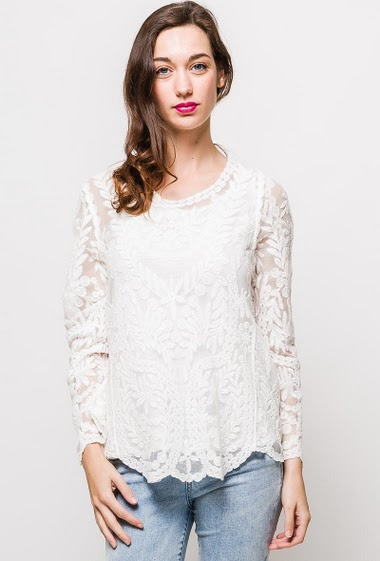 Long sleeve top, no lining. The model measures 177cm, one size corresponds to 10/12(UK) 38/40(FR). Length:70cm