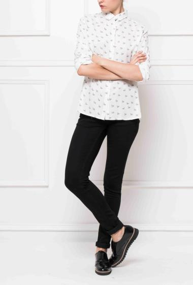 Shirt with swangs printed, casual fit