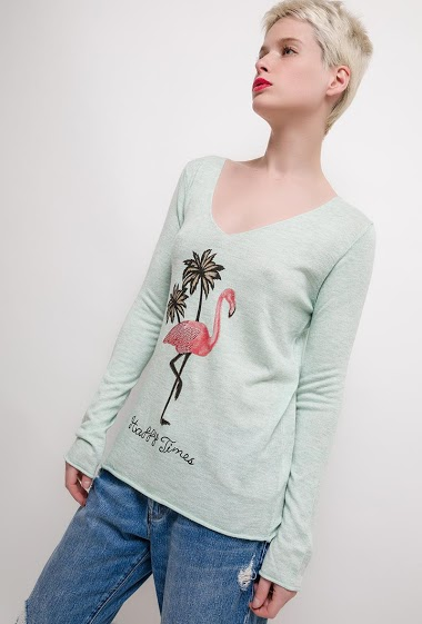 The model measures 172cm and wears M/L. Length:65cm