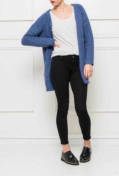 Soft knit open cardigan, pockets
