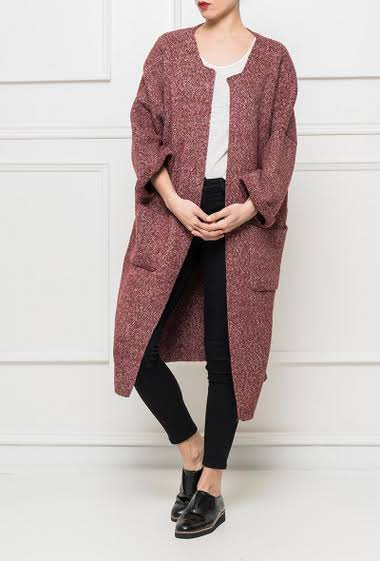 Chunky knit cardigan, regular fit