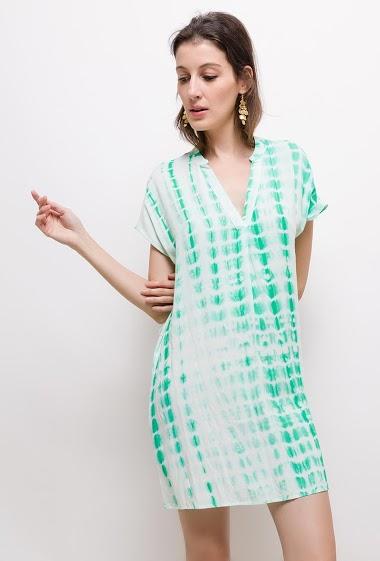 Robe Tunique Fluide Tie And Dye Last Queen Paris Fashion Shops