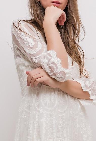 Lilie Rose - Robe en tulle brodé