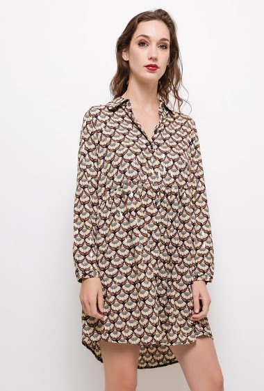 Robe imprimée avec détails brillants,La mannequin mesure 177cm et porte du M/L. Longueur:90cm