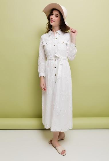 robe midi boh me lilie rose paris fashion shops. Black Bedroom Furniture Sets. Home Design Ideas