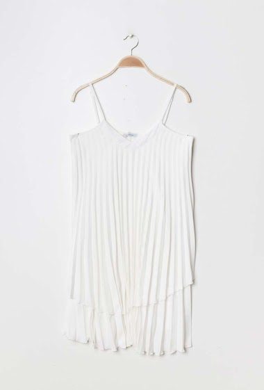 Strappy flared tunic. The model measures 177cm and wears S/M. Length:90cm