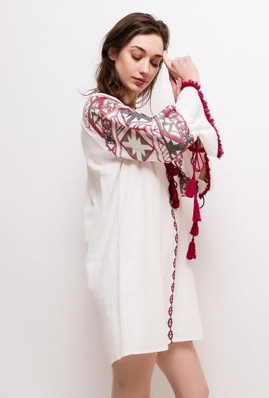 Lily Mcbee - Robe bohème brodée