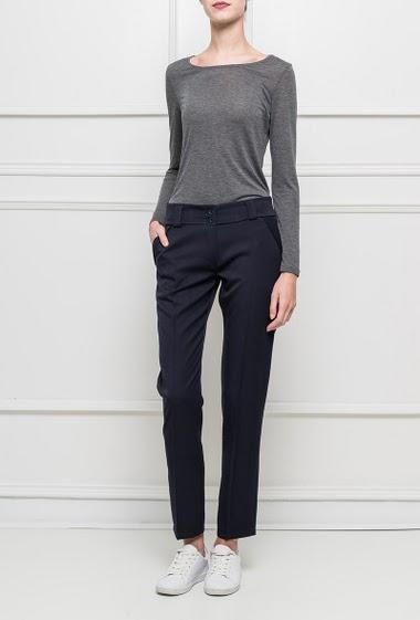 Elegant pants, pockets T1=36,T2=38,T3=40,T4=42,T5=44,T6=46,T7=48,T8=50