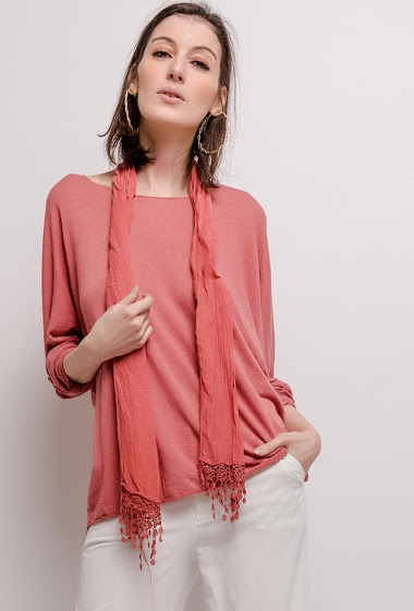 LIN&LEI dunne trui met sjaal CIFA FASHION