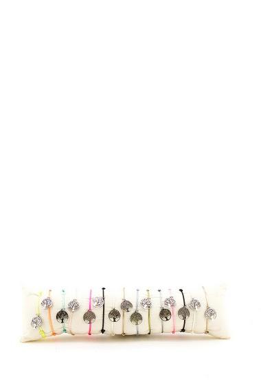 Bracelet arbre de vie en acier par 15pcs