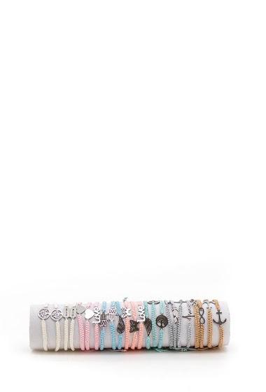 Bracelets aciers, motifs divers par 24pcs