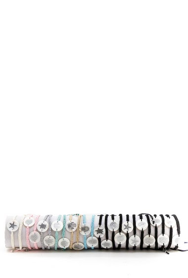 Steel Bracelets, various patterns by 24pcs