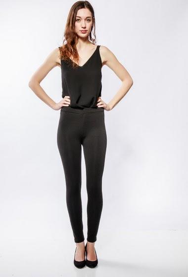 Warm leggings - fleece inner. The model measures 177cm and wears S/M