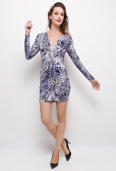 Patterned dress,The model measures 177cm, one size corresponds to 10/12(UK) 38/40(FR). Length:80cm