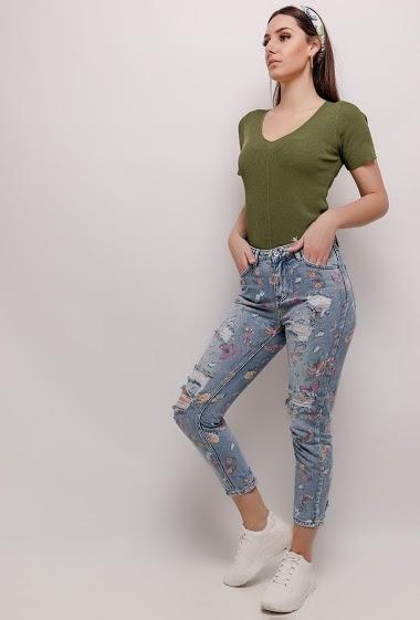 LUIZACCO floral mom jeans CIFA FASHION