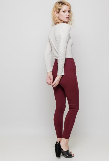 High waisted leggings, zip closure, decorative zips, close fit. The mannequin measures 177 cm and wears M