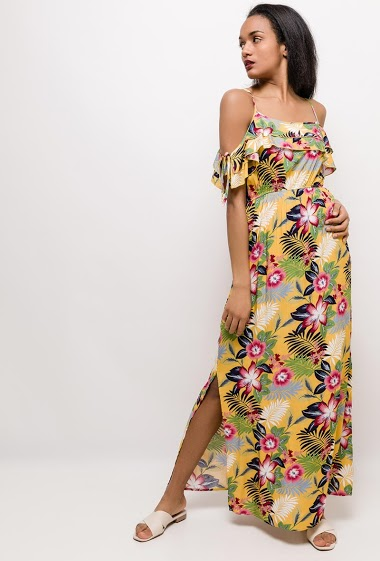 M.L Style - Robe longue fleurie