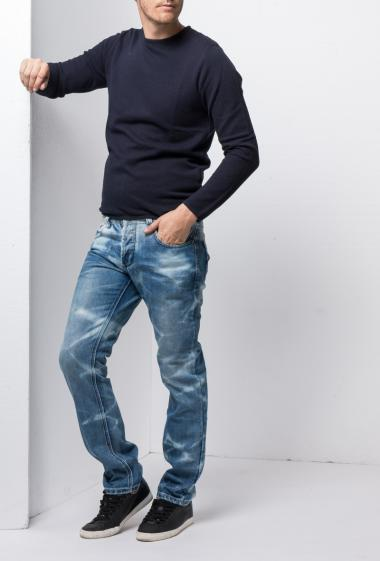 Stonewashed jeans, slim fit
