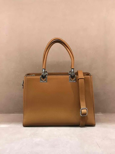 Two compartments hand bag