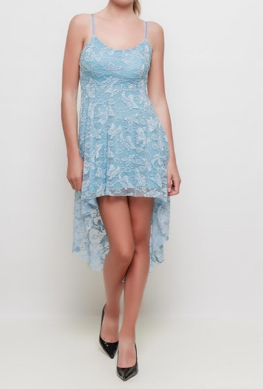 Dress with adjustable straps, padded chest, asymmetric hem - TU corresponds to 38-40