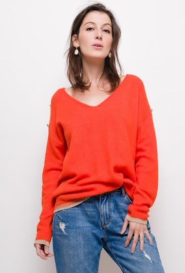 Fine knit sweater,The model measures 178cm, one size corresponds to 10/12(UK) 38/40(FR). Length:70cm