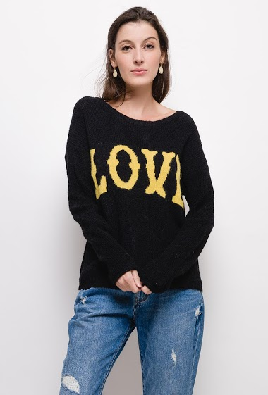 LOVE sweater,The model measures 178cm, one size corresponds to 10/12(UK) 38/40(FR). Length:65cm