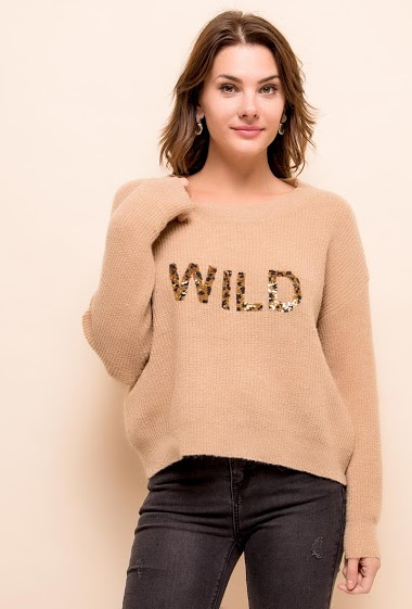 Sweater WILD with sequins