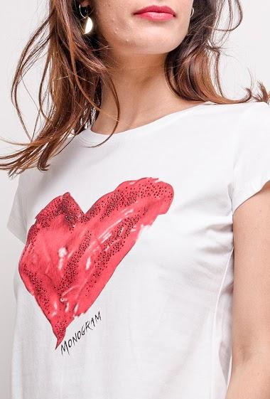 T-shirt avec cœur