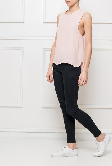 Sleeveless top, loose fit S=38