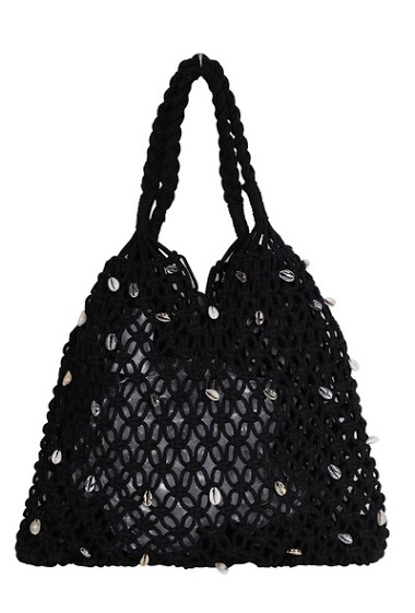 Hand-knitted macrame cotton bag (Sun 42 * 1 * 24)