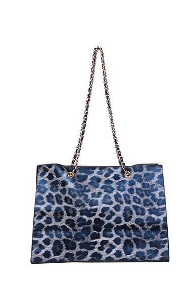 Tote bag with animal motif, details studded on the sides ,dimensions 37*15.5*26cm