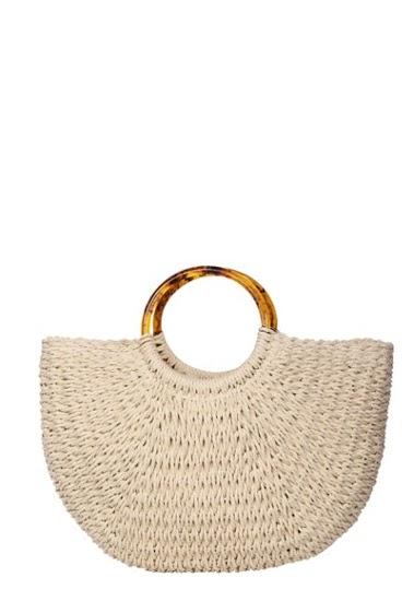 MOGANO raffia basket with rocky handle (25 * 7 * 25). CIFA FASHION