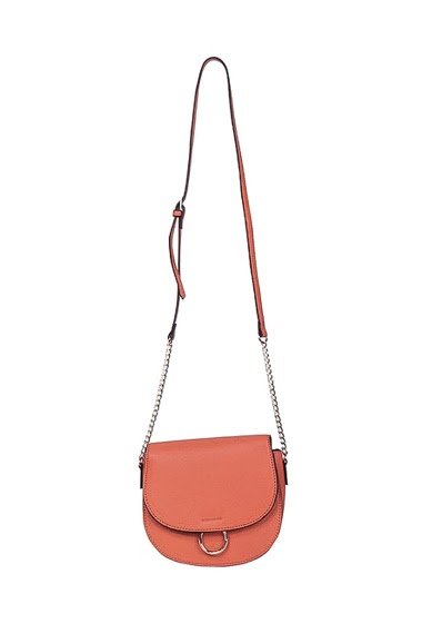 Small bag with shoulder strap, with a ring on the flap  dimensions 19*7*18cm