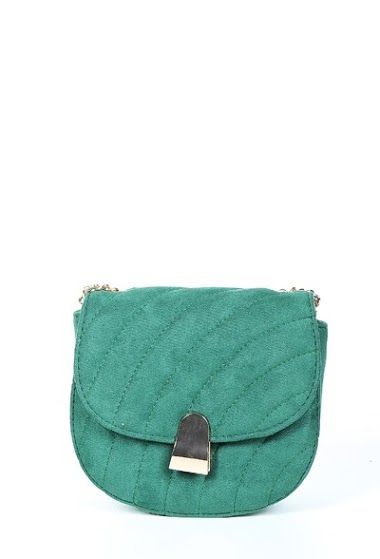 Small suede bag to be worn over the shoulder, size 18 * 7 * 17cm
