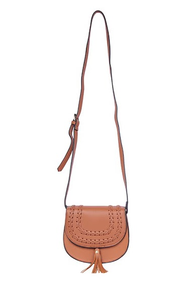 MOGANO pouch worn shoulder strap, details braided on the flap CIFA FASHION