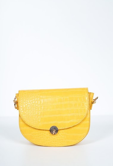 Faux leather strap pocket with crocodile print dim 20*6*16cm
