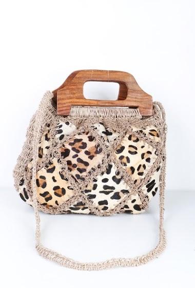MOGANO leopard leather yoke bag CIFA FASHION