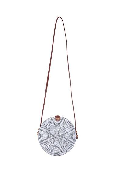 Handmade rattan balinese bag, dimensions: 20 * 7 * 20cm