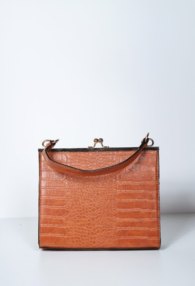 Retro crocodile bag,carry by hand or over the shoulder, size 23 * 4.5 * 19cm