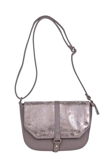 Crossbody bag with metallic details