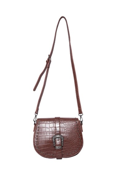 MOGANO croco leatherette rigid bag with buckle CIFA FASHION
