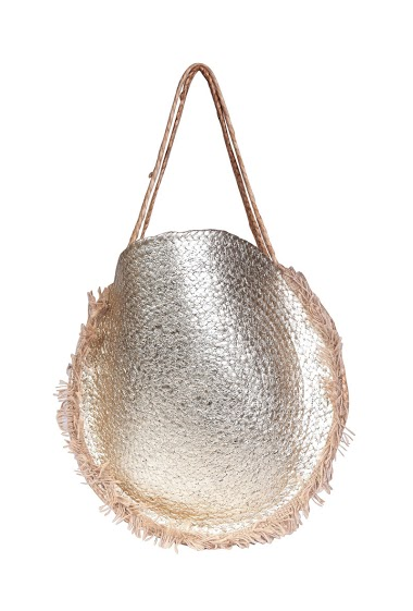 metallic burlap bag