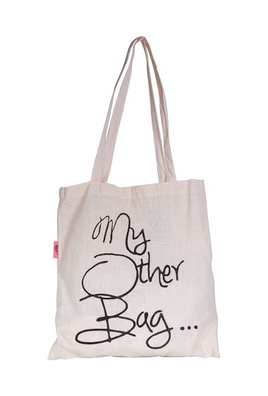 tote bag with inscription