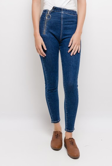 Leggings jeans with zips