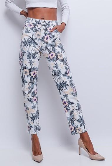 MONDAY PREMIUM tropical print pants CIFA FASHION