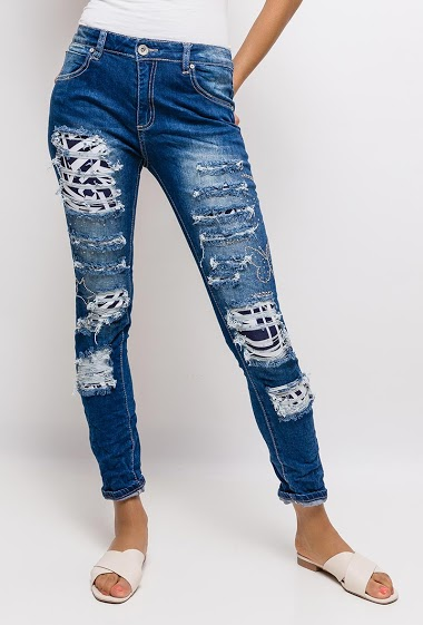 MOZZAAR  FOREVER ripped jeans CIFA FASHION