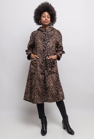 Coat with animal print