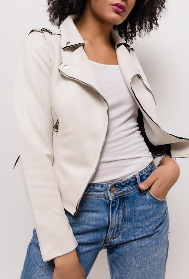 NEW LOLO biker jacket in suede<
